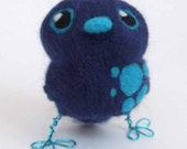 Tweet Little Turquoise and Navy Spotted Tweet
