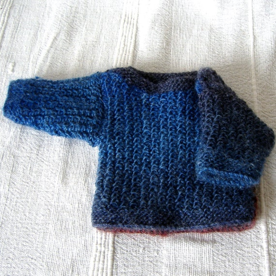 Small Knitted Teddy Bear or Doll Jumper