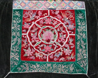 Textiles -  Hmong Baby Carrier/ Hmong / Miao fabric / Hmong embroidery panels - 604