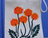 Spring Fling Dandelions, Reusable Organic Lunch Bag