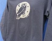 Woodland Grey Owl Unisex Long Sleeve Jersey Tee