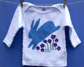 Jumping Easter Bunny Infant Lap Tee