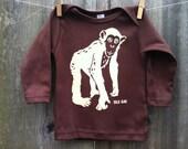 Cheeky Monkey Long Sleeve Infant Tee