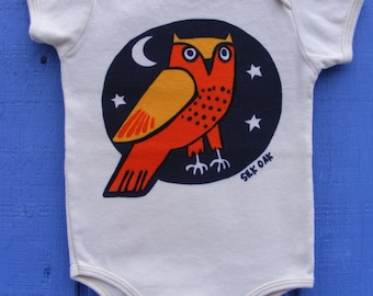 Wise Owl Organic Cotton Infant One pc. Bodysuit