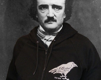 Poe's Black Raven Hooded Sweatshirt