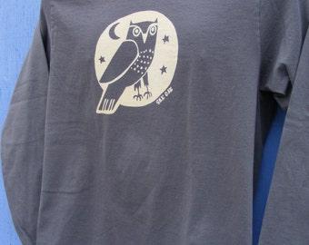 Woodland Grey Owl Unisex Long Sleeve Jersey Tee
