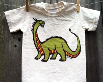 Year of the Dragon Hand Silkscreened Organic Kid Tee Sizes 2-12