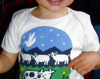 Happy Farmyard Organic Cotton Infant Tee
