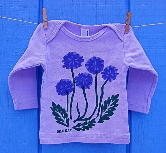 Purple Flowers Lavender Infant LS Tee