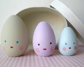 Wooden Figure-Egg Family