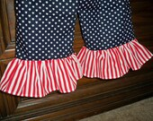Rompin Around for 4th of July in a Stars  and Stripe Romper