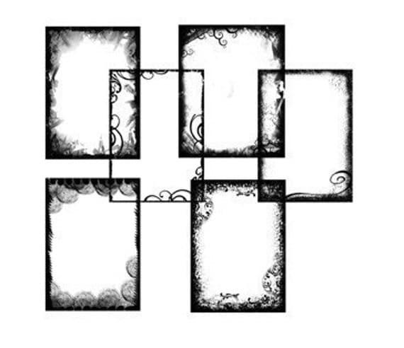 Grunge Frames / Borders Brush Set for Photoshop -
