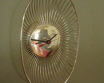 Wall Clock - Repurposed and Upcycled Home Decor - Vintage Art Deco - FREE SHIPPING