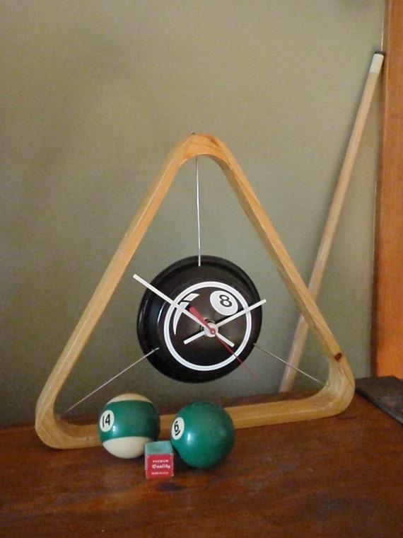 Pool Rack Clock - Repurposed and Upcycled Home Decor - Billards - Men's Gift