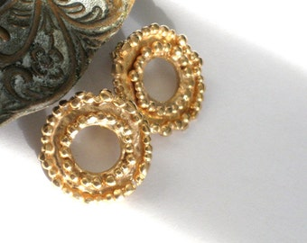 Large Gold Stud Earrings, Gold Earrings, Yellow Gold Earrings, FREE SHIPPING,Gold Plated Earrings, Medium Stud Earrings, Gold Post Earrings