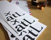 Atlanta, GA - ATL Jet Set Stationery - Set of 6 - Hand Printed Stationery - Travel Gift - Travel Paper Goods