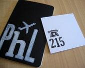 Philadelphia, PA - Black Jet Set Journal and 4 Area Code Notes