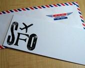 San Francisco - SFO Jet Set Stationery - Set of 6