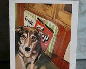 Greeting Card-The best dogs are shelter dogs.