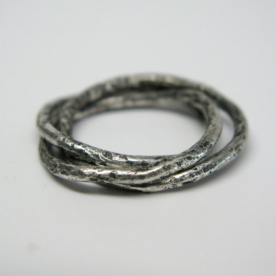 Sterling Silver Vine Rolling Ring