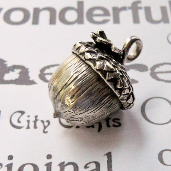 Handmade Sterling Silver Acorn Pendant