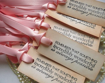 Wedding Favor Tags, Wedding Favors, Pink Favor Tags, Set of 50, Wedding Favor Bags, Wedding Favor Boxes, Personalized Tags, Pink Favors