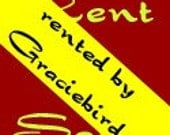 GracieBird - Custom listing