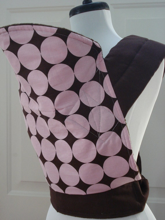Mei Tai Baby Carrier- Brown and Pink Disco Dot