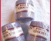 Destash Sale, Rayon Crochet Thread, Lavender
