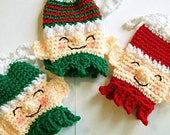 Smiling Elves Christmas Gift Bags, Made to Order