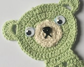 Teddy Bear Bookmark, St. Patrick's Day Green