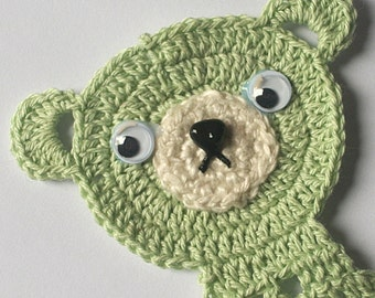 Teddy Bear Bookmark, St. Patrick's Day Green