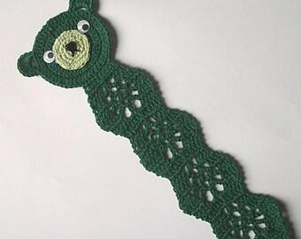 Teddy Bear Bookmark, St. Patrick's Day Dark Green
