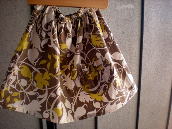 skirt - girls, toddler  12-18 months, 18-24, 2T 3T 4T grey, gray, yellow flowers  Spring SALE