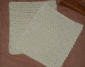 2 Extreme Prim H-Crocheted Dish Cloths Dish Rags Wash Cloths Cotton Thread