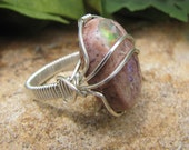Beautiful Pastel Mexican Opal Ring - Sterling