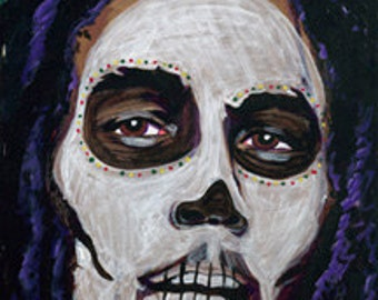 Bob Marley day of the dead print