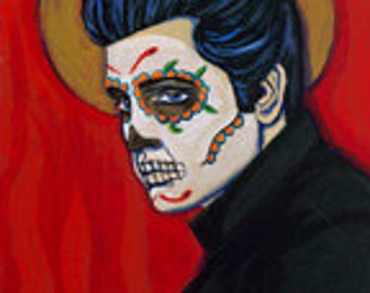 Elvis day of the dead print