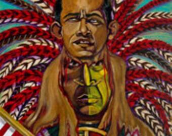 Obamas sacrfice xipe toltec print