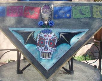 sugar skull painting MOVING SALE!