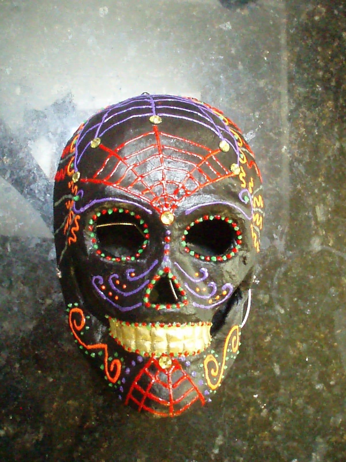 black sugar skull mask