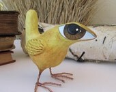 Paper Mache - Art Sculpture - Bruce - A Big Eyed Bird