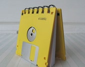 Bright Yellow Recycled Geek Gear Blank Floppy Disk Mini Notebook