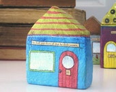 Paper Mache - Art Chubby Little House Number 95 - So shall you share all that he doth possess.