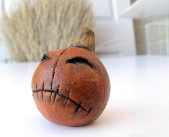 Jack O' Lantern - Halloween Pumpkin Paperclay
