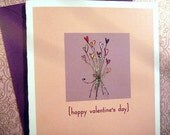 Valentine bouquet single card - Happy Valentine's Day