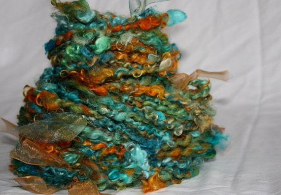 Patina Penny 45 Yards of Hand Spun Hand Dyed Art Yarn