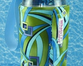 Water Bottle Sleeve Whats Up Your Sleeve Fabric Cloth Insulated Reversible Swirly