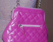 Funky Little Pink Purse, Fuchsia, Magenta, Zac Efron, Mystery Date, Handbag, Chain Handle