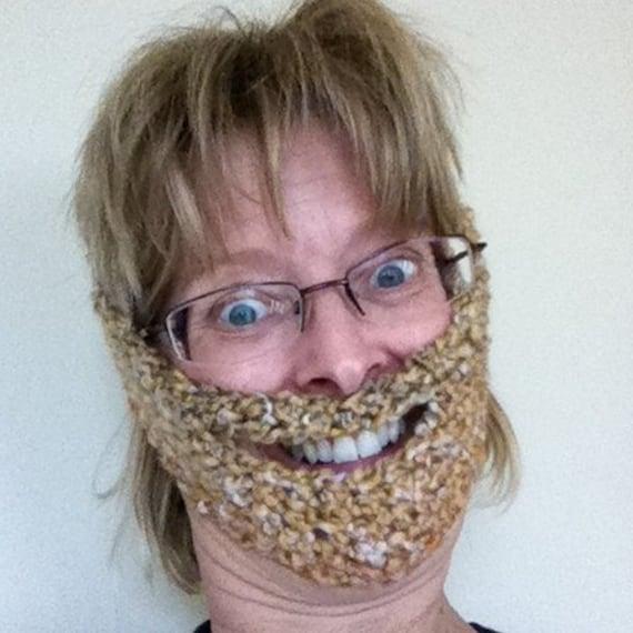 Items Similar To Handmade Crochet Weird Beard Fuzzyfaces